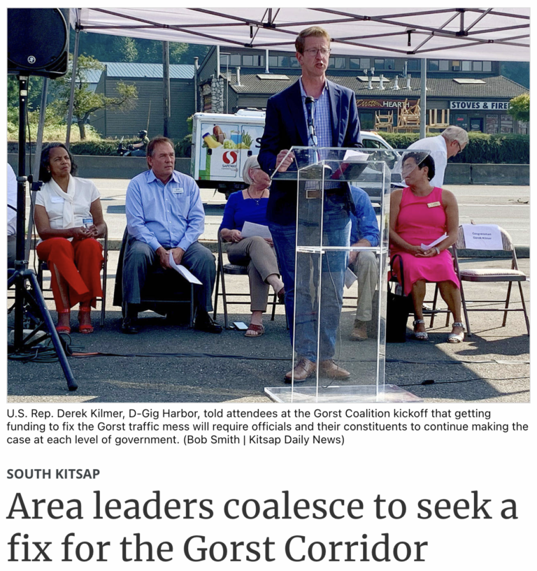 Kitsap Daily News – Area leaders coalesce to seek a fix for the Gorst Corridor